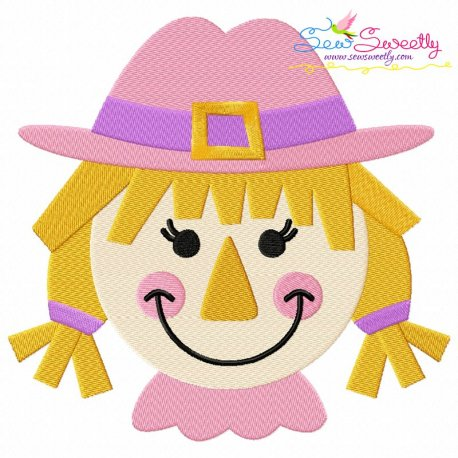 Girl Scarecrow Machine Embroidery Design