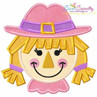 Girl Scarecrow Applique Design