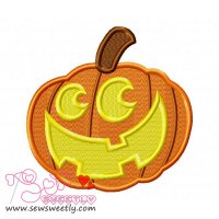 Smiley Pumpkin Embroidery Design