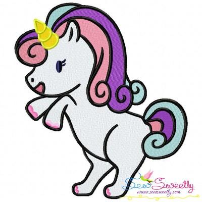 Baby Unicorn-2 Machine Embroidery Design
