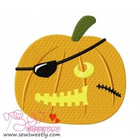 Pirate Pumpkin Embroidery Design