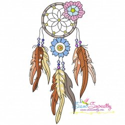 Floral Dream Catcher-7 Machine Embroidery Design