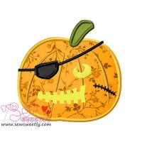 Pirate Pumpkin Applique Design