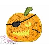 Pirate Pumpkin Applique Design