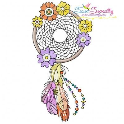 Floral Dream Catcher-6 Machine Embroidery Design