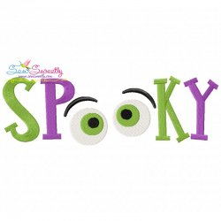 Spooky Lettering Machine Embroidery Design