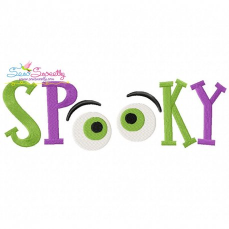 Spooky Lettering Machine Embroidery Design Pattern- Category- Halloween Designs- 1