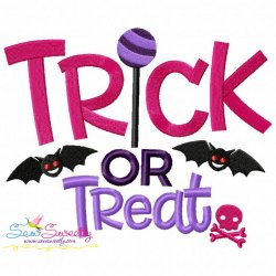 Trick or Treat-3 Lettering Machine Embroidery Design