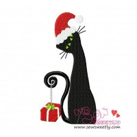 Xmas Cat-1 Embroidery Design