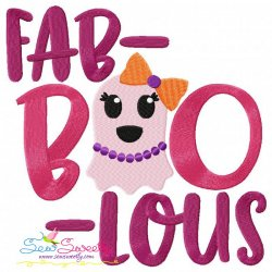 Fab Boo Lous Halloween Lettering Embroidery Design