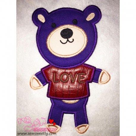 Love Bear-1 Applique Design
