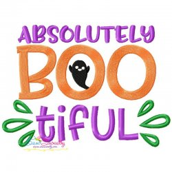 Absolutely Bootiful Halloween Lettering Embroidery Design