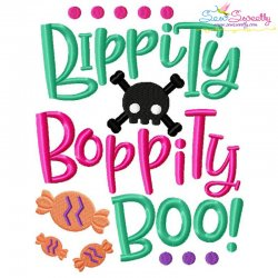 Bippity Bopppity Boo Halloween Lettering Embroidery Design