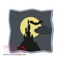 Spooky Castle Embroidery Design