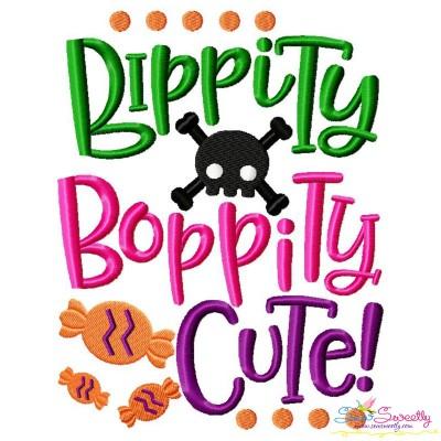 Bippity Bopppity Cute Halloween Lettering Embroidery Design