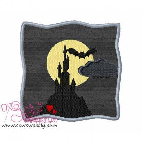 Spooky Castle Applique Design