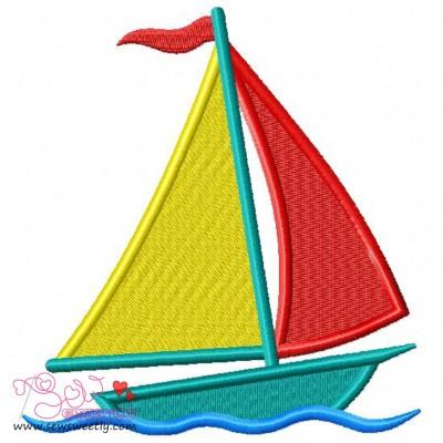 Sail Boat-2 Embroidery Design