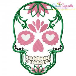 Sugar Skull-1 Halloween Embroidery Design