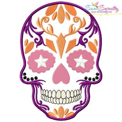 Sugar Skull-2 Halloween Embroidery Design