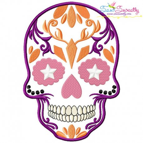 Sugar Skull-2 Halloween Embroidery Design