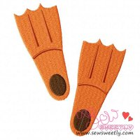 Flippers Embroidery Design