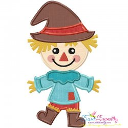 Cute Fall Scarecrow Applique Design
