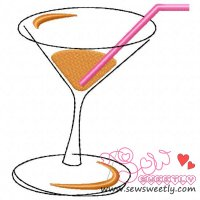Brown Drink Embroidery Design