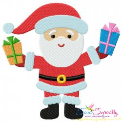 Santa Gifts Embroidery Design