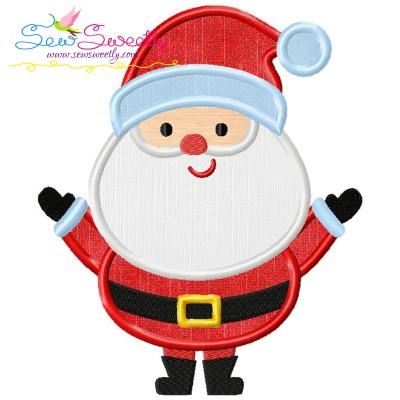 Simple Santa Applique Design