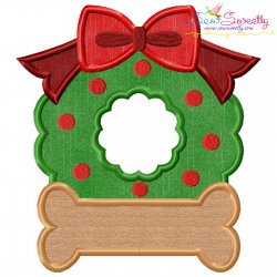 Christmas Wreath Bone Applique Design