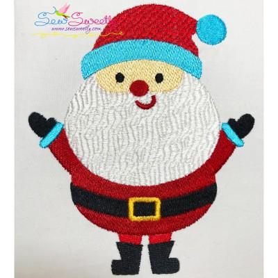 Simple Santa Embroidery Design