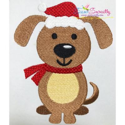 Christmas Dog Embroidery Design