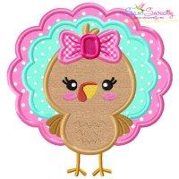 Girl Turkey Applique Design