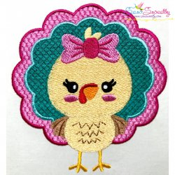 Girl Turkey Embroidery Design