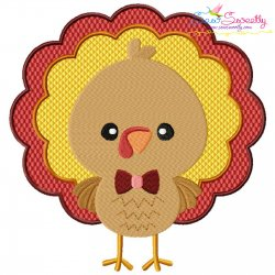 Boy Turkey Embroidery Design Pattern- Category- Fall And Thanksgiving- 1