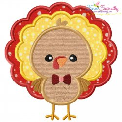 Boy Turkey Applique Design