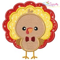 Boy Turkey Applique Design