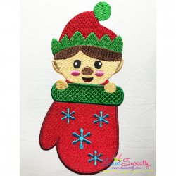 Elf Stocking- Peeker Embroidery Design