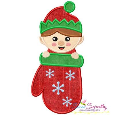 Elf Stocking- Peeker Applique Design
