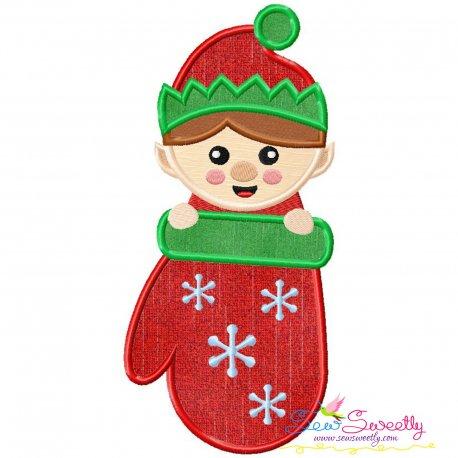 Free Elf Stocking Peeker Applique Design- Category- Christmas Designs- 1