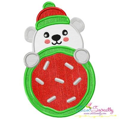 Polar Bear Cookie- Peeker Applique Design