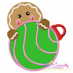Gingerbread- Peeker Embroidery Design