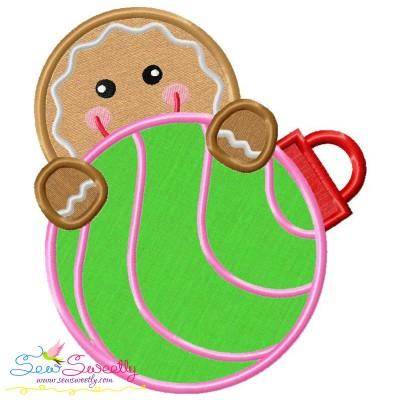 Gingerbread Peeker Applique Design
