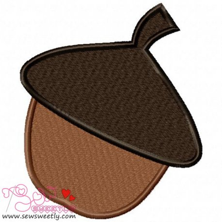 Acorn Embroidery Design