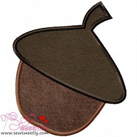 Acorn Applique Design Pattern- Category- Fruits And Vegetables- 1