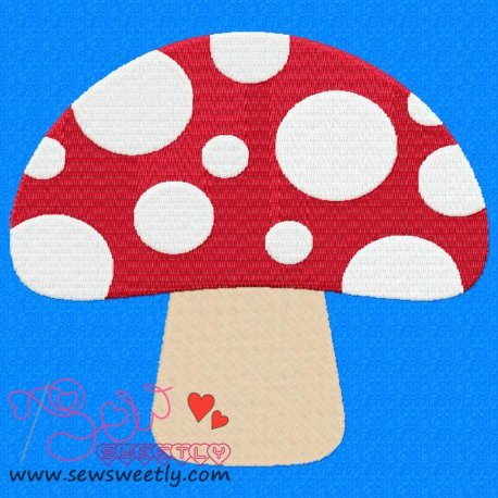 Mushroom Embroidery Design Pattern- Category- Fruits And Vegetables- 1