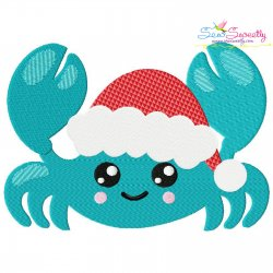 Christmas Crab Embroidery Design