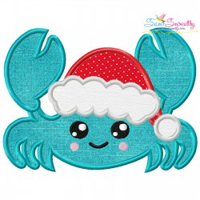 Christmas Crab Applique Design