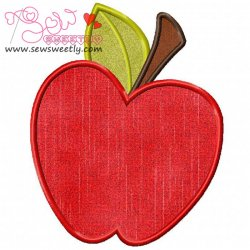 Red Apple Applique Design