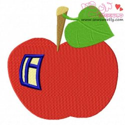 Apple House Embroidery Design